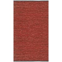 Hand-woven Copper Matador Leather Rug (5' x 8') - 5' x 8'