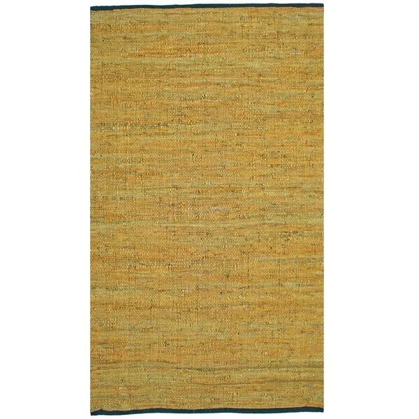 Matador Gold Hand-woven Leather Rug (8' x 10') - 8' x 10'
