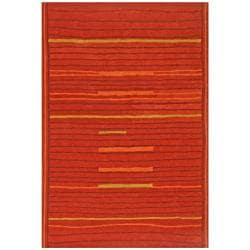 Hand-tufted Lineage Orange Wool Rug (4' x 6')