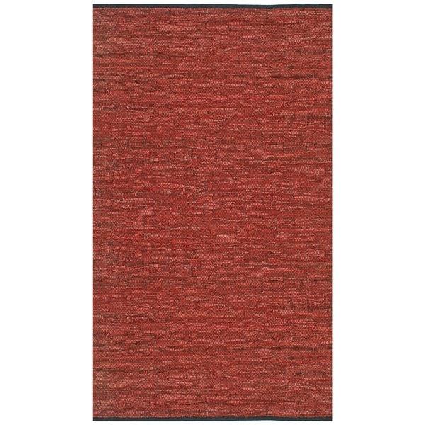 Hand-woven Matador Copper Leather Rug (8' x 10') - 8' x 10'