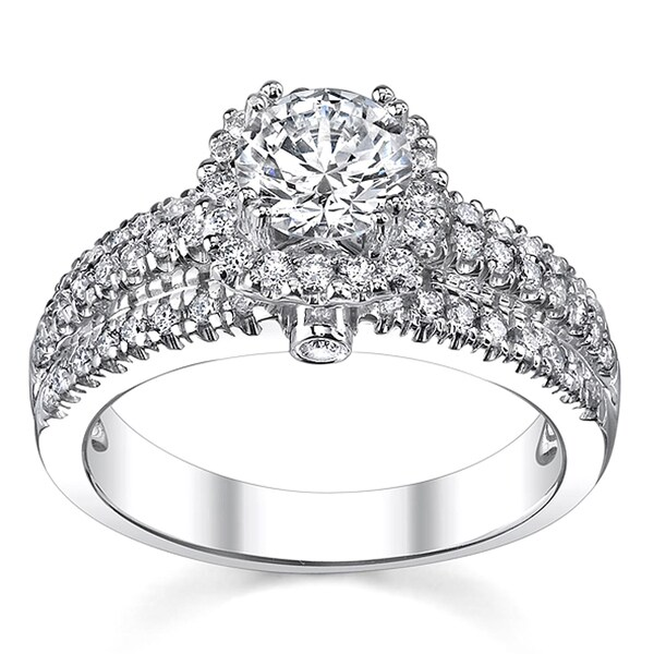 14k White Gold 1 1/6ct TDW Engagement Ring (H-I, SI1-SI2)
