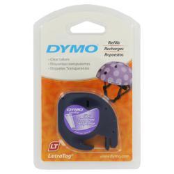 DYMO LetraTag Clear Plastic Label Tape Cassette