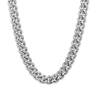 Platifina 24-inch Cuban Link Chain Necklace