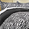 Luxury Zebra Microfiber 3-piece Duvet Cover Set