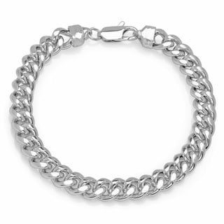 Sterling Essentials Men's 8.5-inch Cuban Link Bracelet