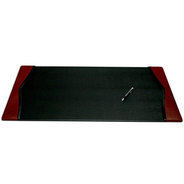 Dacasso Burgundy 34 x 20-inch Leather Desk Pad