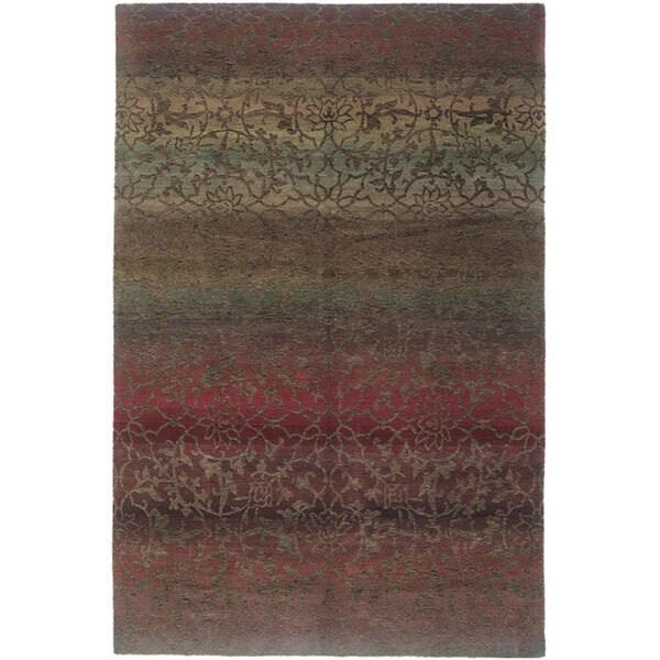 Shop Handmade Nepalese Mauve Divine Wool Rug