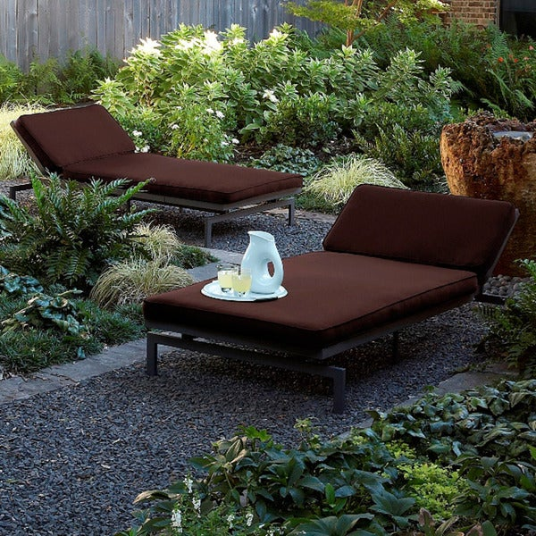 Alyssa bay brown adjustable outdoor chaise with sunbrella for Alyssa outdoor chaise lounge