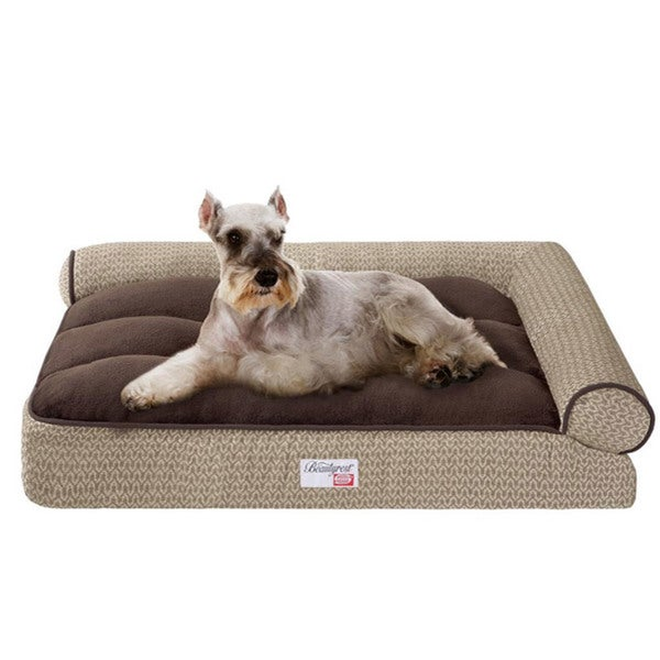 Simmons Beautyrest Right Angle Bolster Lounger Pet Bed