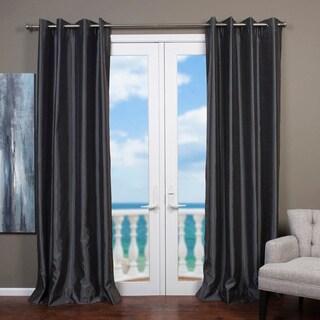 Mia Faux Silk Curtain Panel