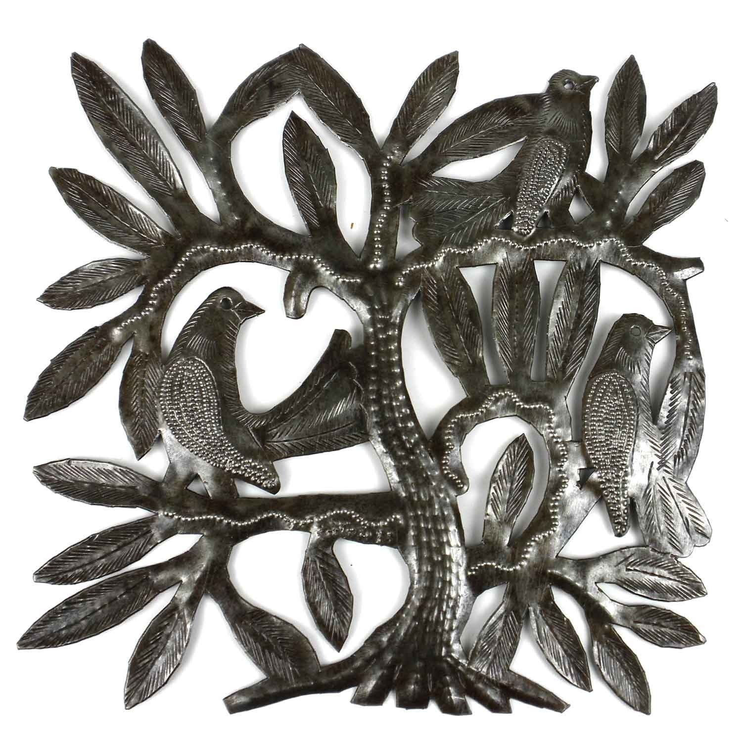 Global Crafts Recycled Steel Drum Tree of Life and Three ...