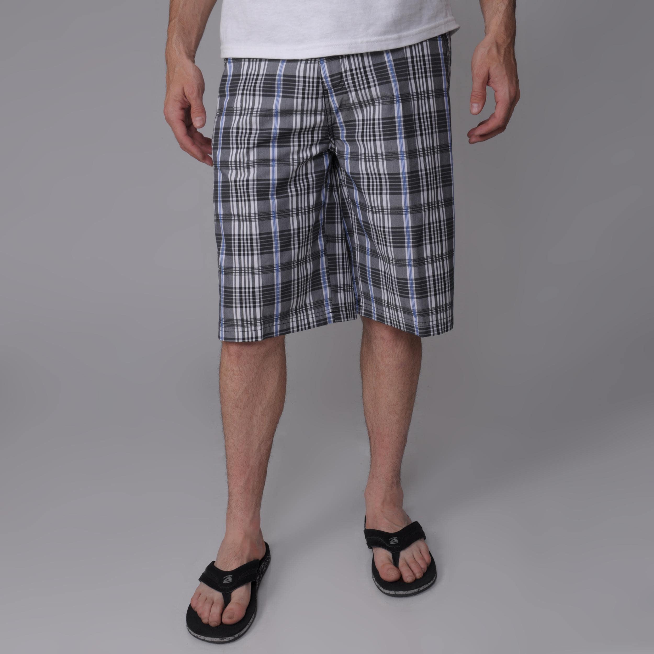 Charcoal Gioberti by Boston Traveler Men's Plaid Shorts