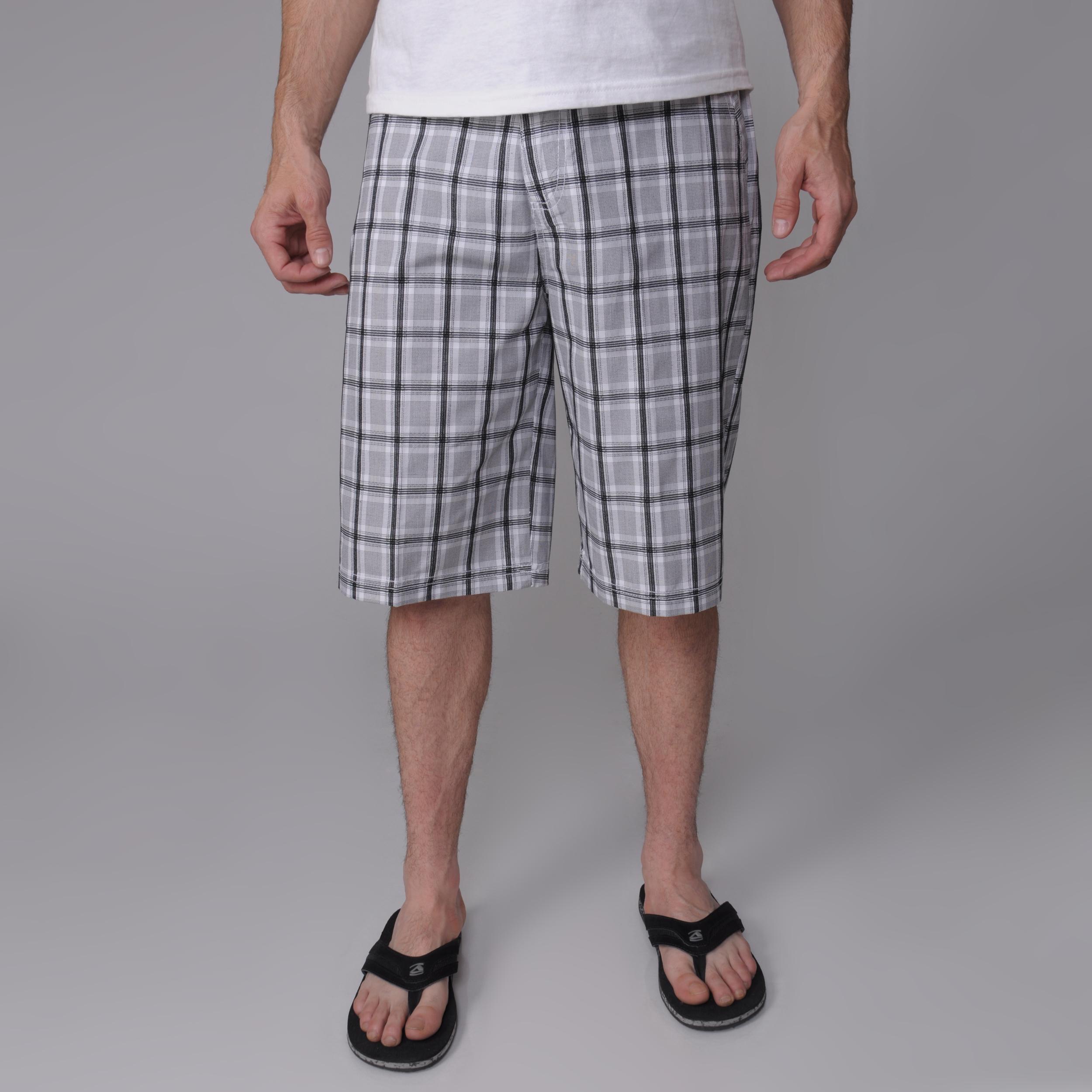 Black Gioberti by Boston Traveler Men's Plaid Shorts