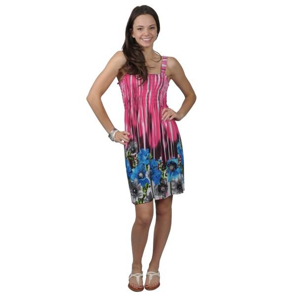 Journee Happie Collection Juniors' Sleeveless Sundress