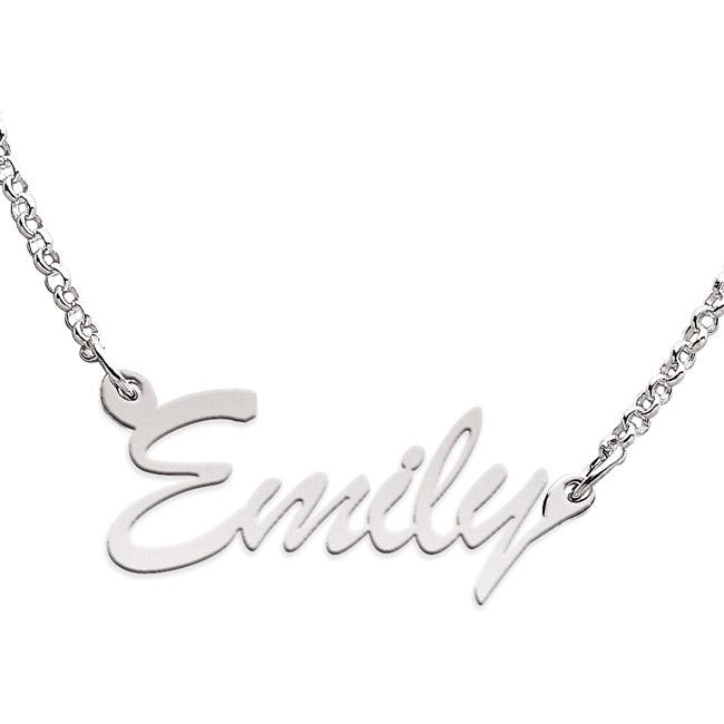 Limoges Sterling Silver 'Emily' Necklace