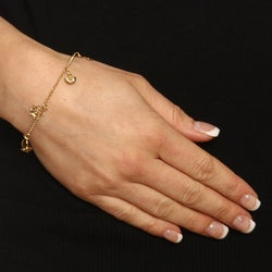 14K Gold over Sterling Silver Nautical Anklet - Thumbnail 2