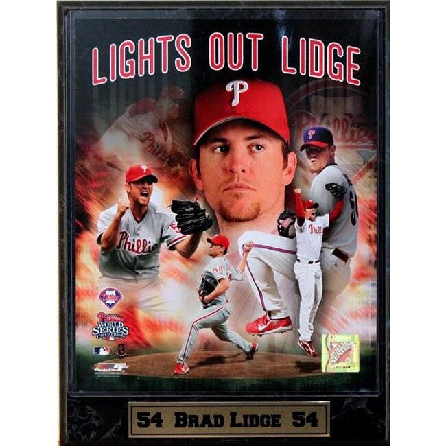 Philadelphia Phillies Brad Lidge 9x12 Photo Plaque