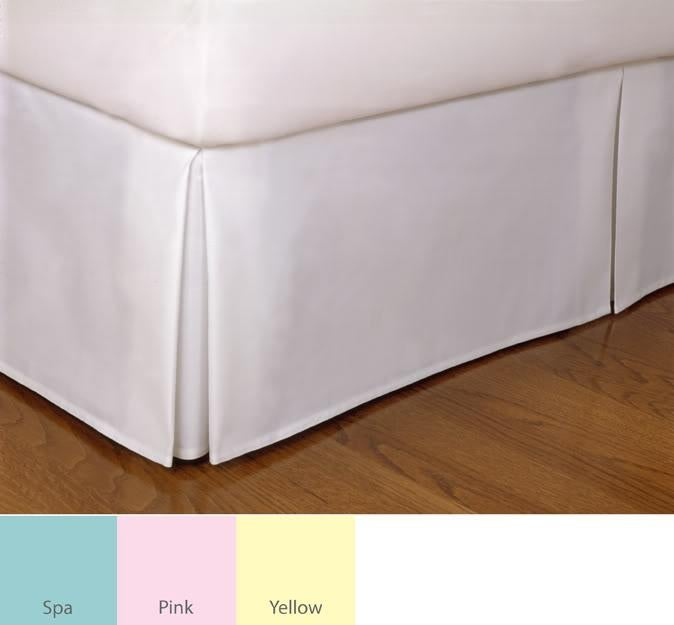 Tailored Poplin 14-inch Drop Bedskirt (Cal King / Pink), ...