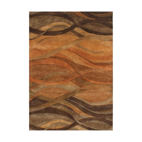 Alliyah Handmade Rust New Zeeland Wool Area Rug