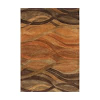 Alliyah Handmade Rust New Zeeland Wool Area Rug - 10' x 12'