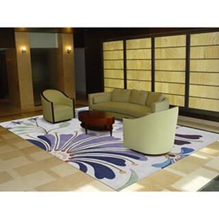 Alliyah Handmade Light Purple New Zealand Blend Wool Rug (8' x 10')