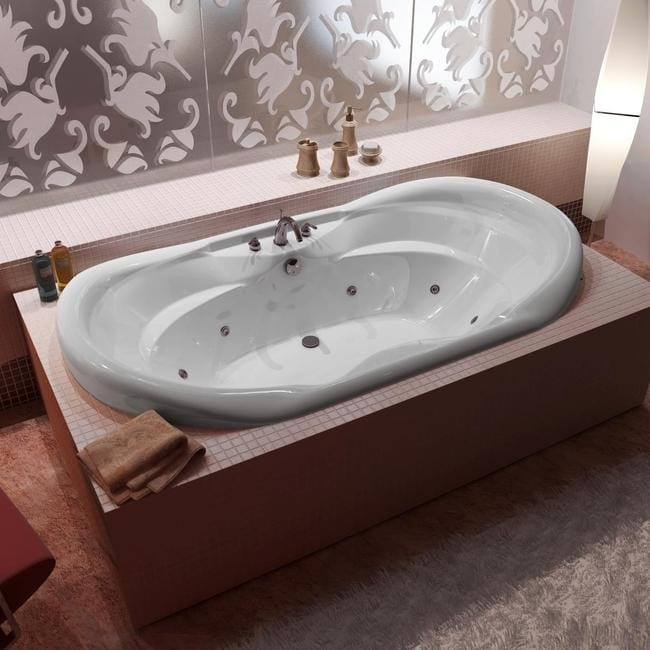 Indulgence White 70x41 Inch Whirlpool Tub Free Shipping