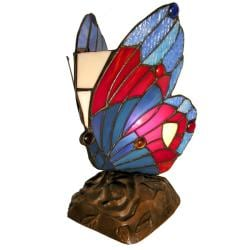 Tiffany-style Blue Butterfly Accent Lamps (Set of 2)