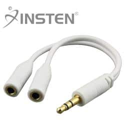 INSTEN White Headset Splitter for Apple iPhone 4/ 4S/5/ 5S/ 6|https://ak1.ostkcdn.com/images/products/5878081/75/28/INSTEN-White-Headset-Splitter-P13586565.jpg?impolicy=medium
