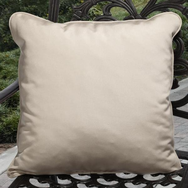 Clara Outdoor Beige Pillows Made With Sunbrella (Set of 2)
