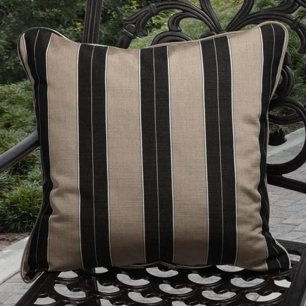 Shop Clara Indoor Outdoor Brown Black Stripe Pillows