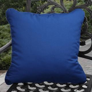Clara Indoor/ Outdoor Canvas Blue Pillows made with Sunbrella (Set of 2)