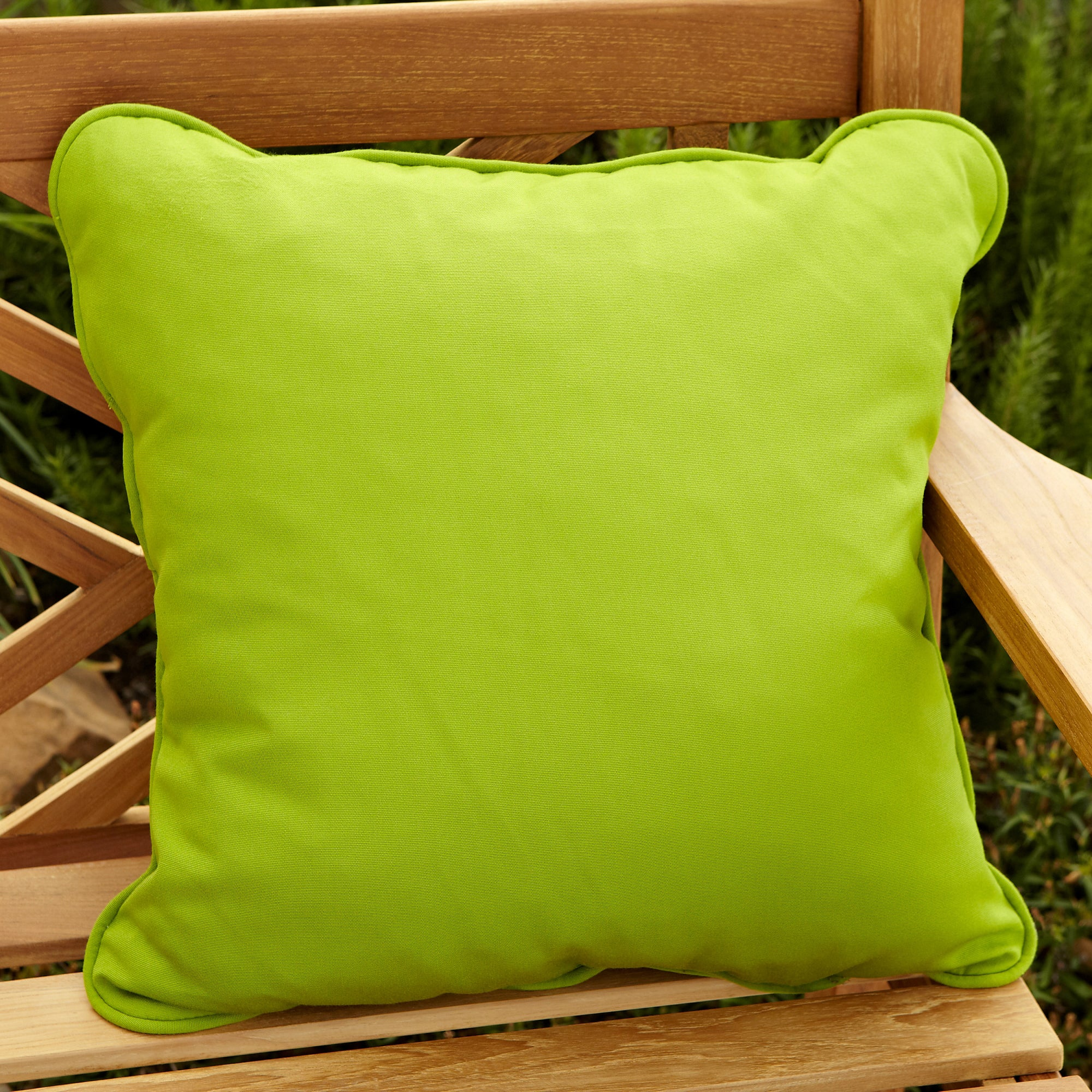 Clara Outdoor Green Pillows Made