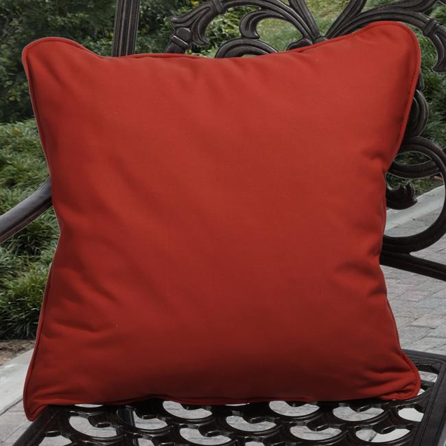 Outdoor Red Pillows Made With Sunbrella