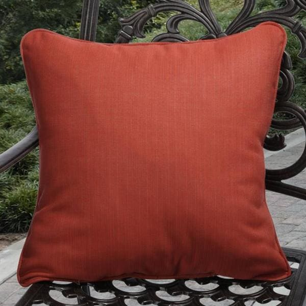 Clara Outdoor Textured Red Pillows Made With Sunbrella (Set of 2)
