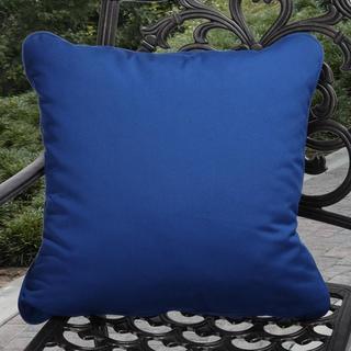 Clara Indoor/ Outdoor Blue Pillows made with Sunbrella (Set of 2)