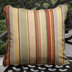 Kate Outdoor Orange Stripe Pillows (Set of 2)