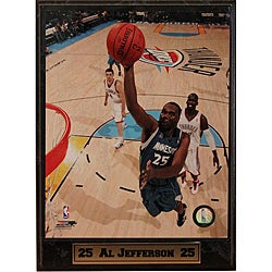 Minnesota Timberwolves Al Jefferson Photograph 9x12 Plaque