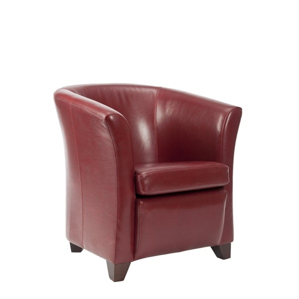 Safavieh Madison Red Leather Club Chair