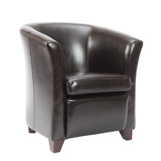 Safavieh Madison Brown Leather Club Chair