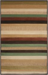 Woven Warm Stripes Natural Indoor/Outdoor Area Rug - 8'8 x 12' - Thumbnail 0