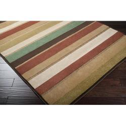 Woven Warm Stripes Natural Indoor/Outdoor Rug (5' x 7'6) - Thumbnail 1