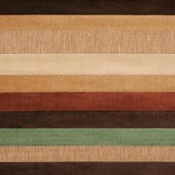 Woven Warm Stripes Natural Indoor/Outdoor Rug (5' x 7'6) - Thumbnail 2