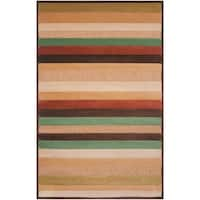 Woven Warm Stripes Natural Indoor/Outdoor Area Rug - 5' x 7'6