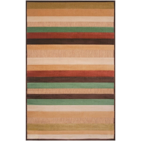 A Warm Rug Some Fall Primping Home Decor: Shop Woven Warm Stripes Natural Indoor/Outdoor Area Rug