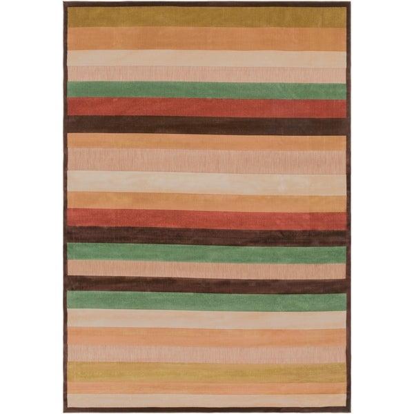"Warm Stripes Indoor/ Outdoor Area Rug - 7'10"" x 10'8"""