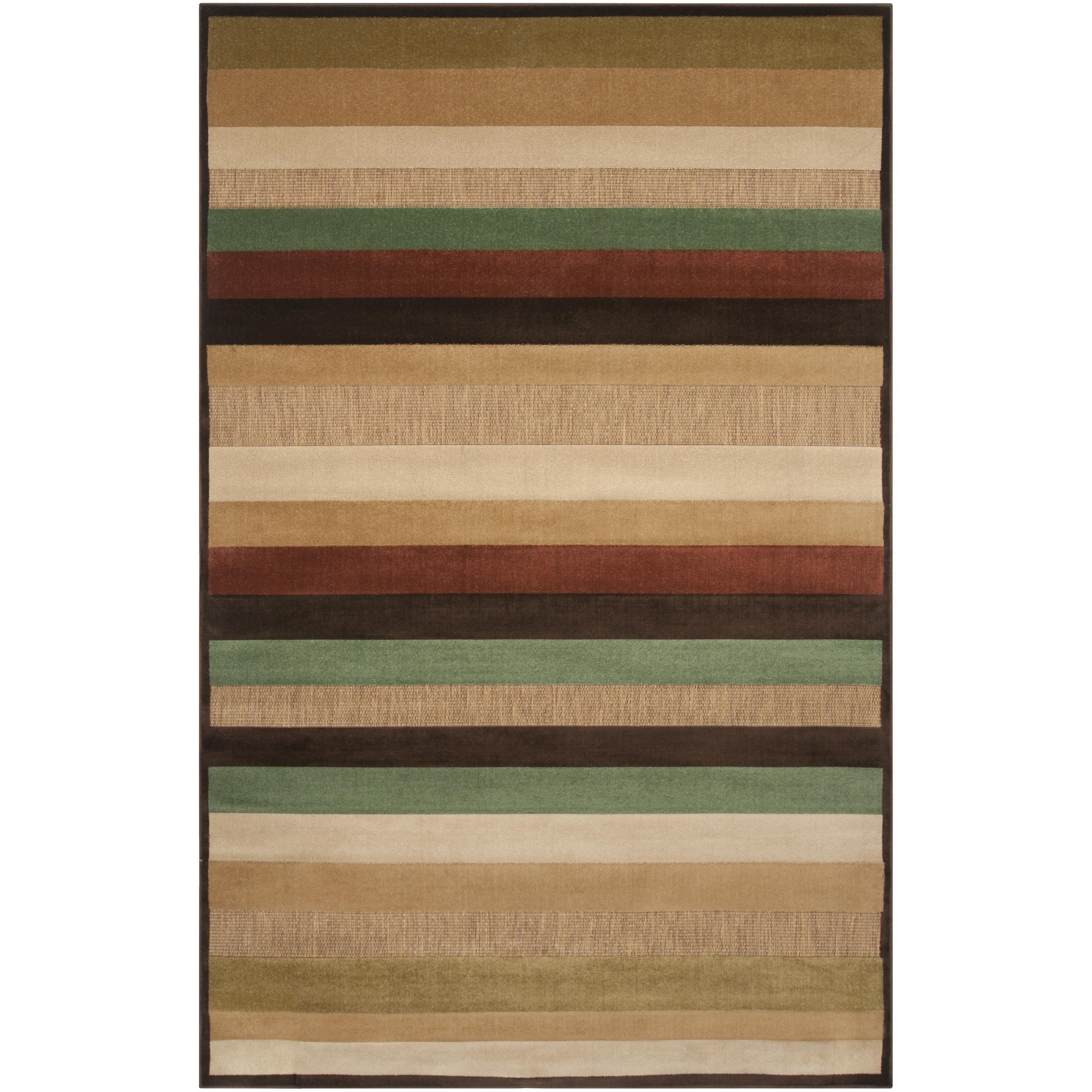 Insten Woven Warm Stripes Indoor/Outdoor Rug (3'9 x 5'8),...