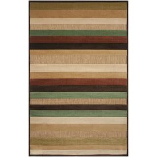 Woven Warm Stripes Indoor/Outdoor Rug (3'9 x 5'8)