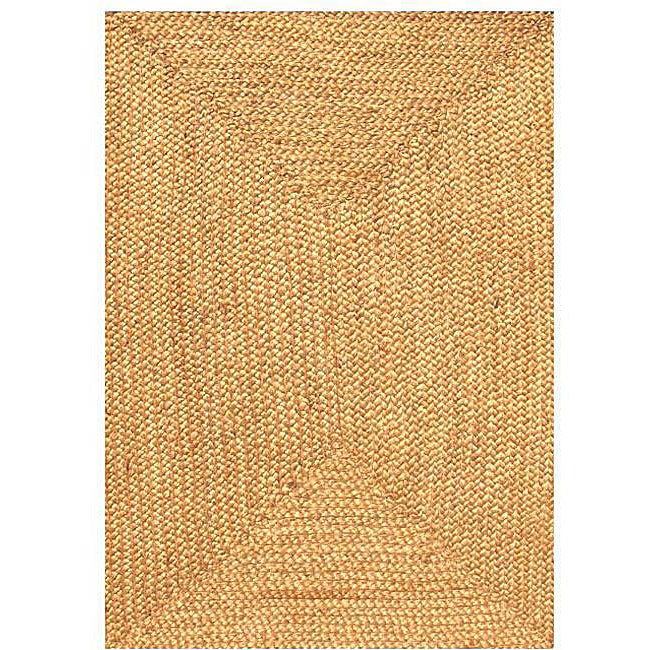 Hand Woven Braided Jute Rug 4 X 6 Free Shipping