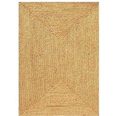 Hand-woven Braided Jute Rug (4' x 6') - 4' x 6'