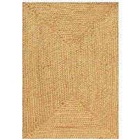 Hand-woven Braided Jute Rug (4' x 6')
